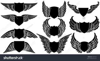 design your own logo shields wings create your own logo stock vector 8207323