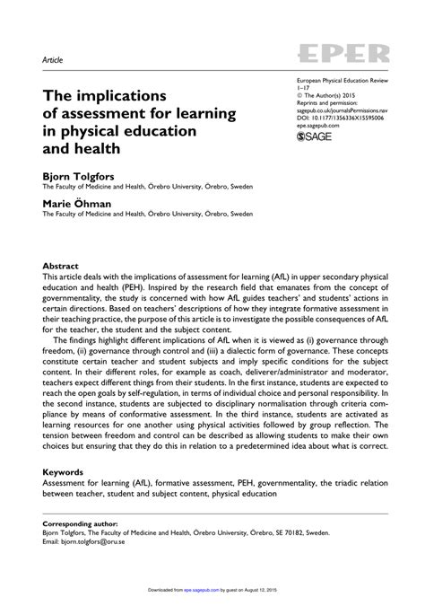 assessment education articles produce medical tests