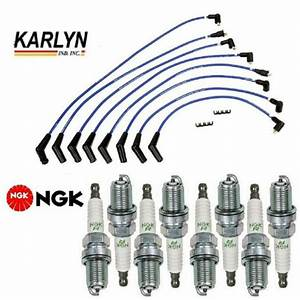 Karlyn Wire Set   8 Ngk Spark Plugs For Land Rover