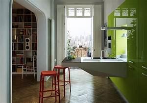 Peinture cuisine vert anis collection et cuisine colorae for Salle À manger contemporaineavec chaise coloràé