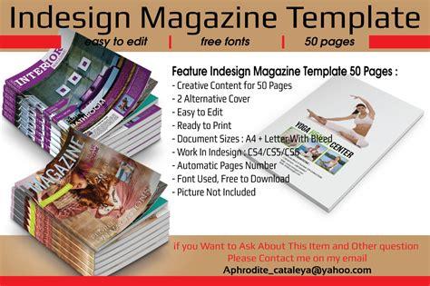 indesign magazine indesign magazine template 50 pages magazine templates on creative market