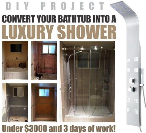 Convert Tub To Walk In Shower by How To Convert A Bathtub Into A Luxury Walk In Shower