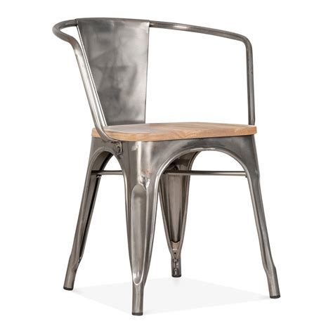 chaise xavier pauchard gunmetal xavier pauchard style armchair with wood seat