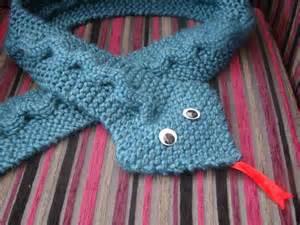 Knitting Snake Scarf Pattern