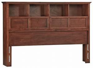 Whittier Wood McKenzie Bookcase Headboard - Free Shipping
