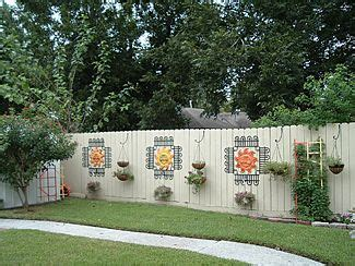Backyard Fence Decor - decorate your fence before and after photos yard