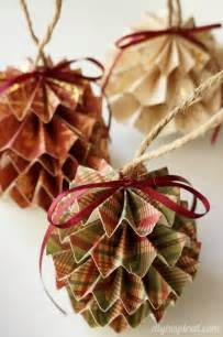 diy paper ornaments diy inspired