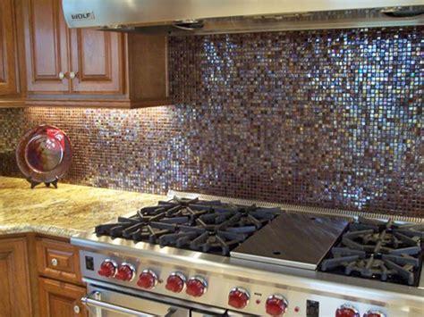 Granite Countertops Glass Tile Backsplash : Brown Glass Travertine Backsplash Tile