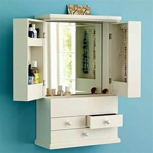 Petite Armoire Blanche : le meuble de rangement de maquillage organisez vos trucs d 39 embellissement ~ Teatrodelosmanantiales.com Idées de Décoration