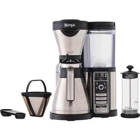 Ninja coffee bar is the antecedent to the ninja cold and hot system. Ninja CF086 Coffee Bar Brewer with Thermal Carafe - Stainless Steel/Black   BeachCamera.com