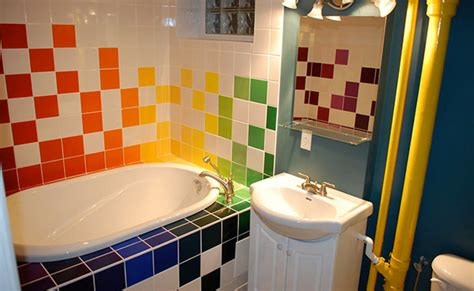 Lively Multi-colored Bathroom Designs