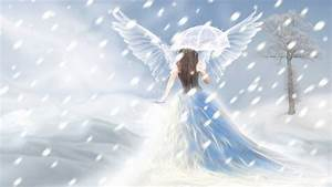 Angel Walking Into Snow Graphic - Images, Photos, Pictures