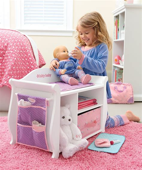 baby alive changing table american changing table storage unit for 15 bitty