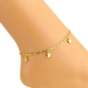 Women's Fashion Jewelry Gold Plated Heart Anklet Ankle ...