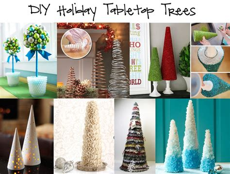 diy holiday tabletop trees    mom