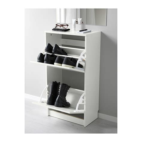 Ikea Bissa Shoe Cabinet by Bissa Shoe Cabinet With 2 Compartments White 49x93 Cm Ikea