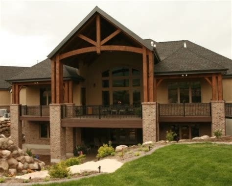 awesome ranch floor plans  walkout basement awesome house designs