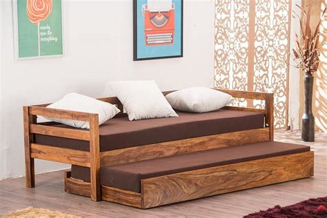buy solid wood capital sofa cum bed trundle