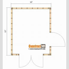 Shed Plans 10x12 Gable Shed  Stepbystep Construct101