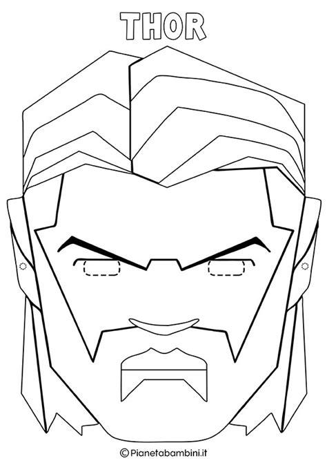 disegni da colorare dei supereroi da stare maschere di supereroi da colorare per bambini