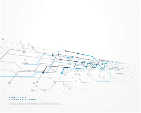 White Technology Background With Mesh Diagram Download