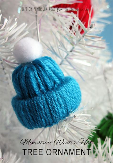 winter hat tree ornament yarn craft landeelu com