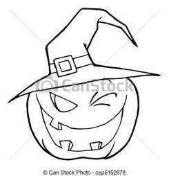 Witch Outline for Pumpkin