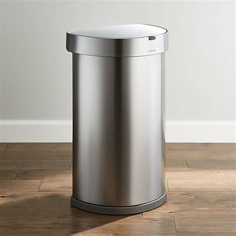 simplehuman  liter gallon sensor trash  crate  barrel