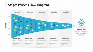 5 Stage Process Flow Diagram For Powerpoint