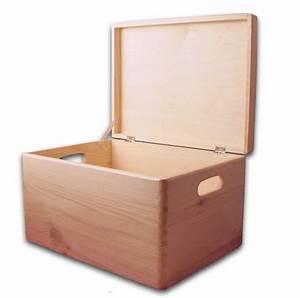 Aufbewahrungsbox Mit Deckel Holz : aufbewahrungsbox holzkiste mit deckel und griffl chern kiefer gr 3 aufbewahrungsboxen aus ~ Bigdaddyawards.com Haus und Dekorationen