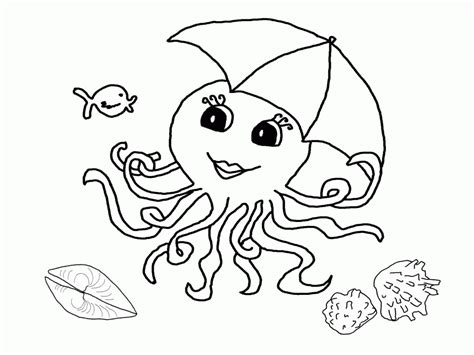 octopus printables coloring home