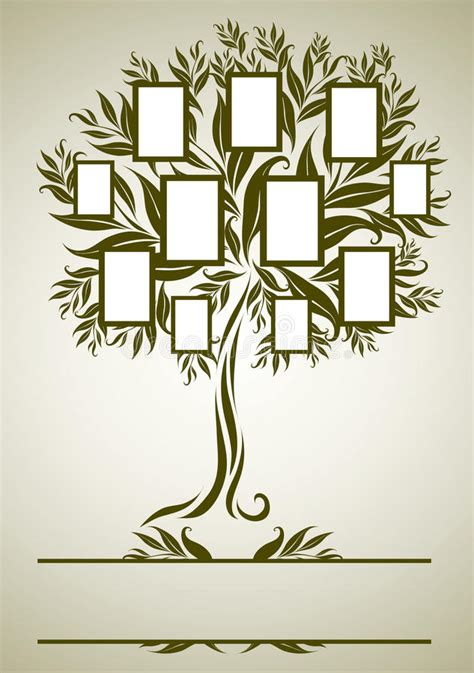 vector family tree design  frames stock vector