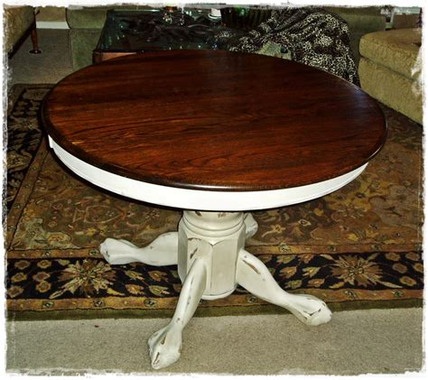 faux painting furniture french country  pedestal