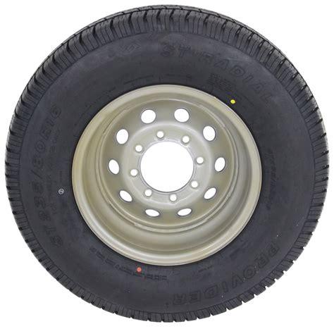 "Provider St23580r16 Radial Trailer Tire W 16"" Silver Mod"