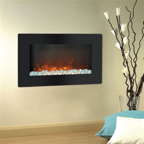 Kamin Wand by Callisto 30 In Wall Mount Electronic Fireplace With Flat