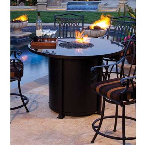 bar height patio table with pit ow santorini 54 inch counter height pit