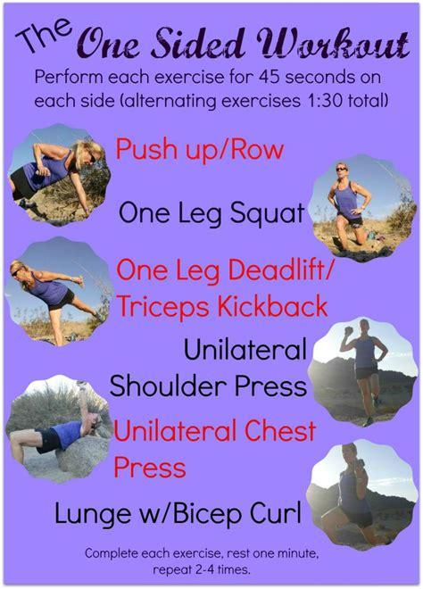 workout sided unilateral exercises balance body balanced stay help fitness coachdebbieruns injury