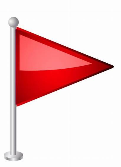 Flag Clipart Clip Triangle Icon Cliparts Background