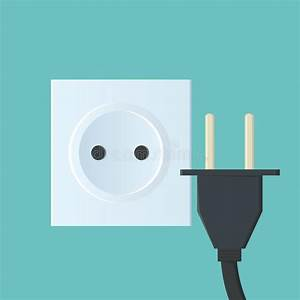 Wire With Two Plugs Jack On The White Surface Stock Illustration