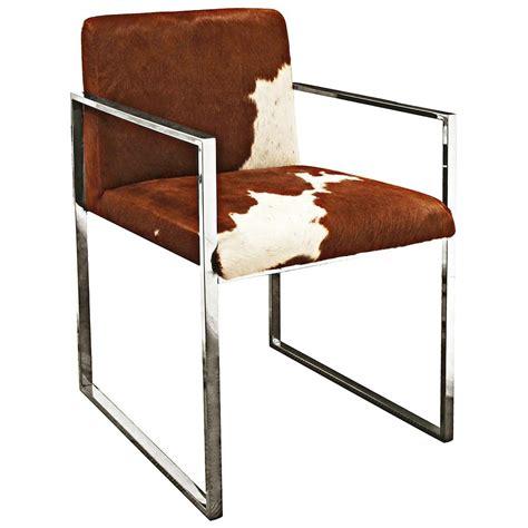 Rustic Cowhide Furniture by Arama Rustic Lodge Brown White Cowhide Steel Dining