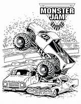 Digger Coloring Monster Grave Jam Truck Getdrawings Printable Getcolorings Colorings sketch template