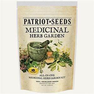 Medicinal herb garden seed kit 100 heirloom seeds non gmos for Herb garden seeds