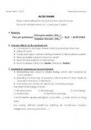English Worksheets Presentation  Acid Rain
