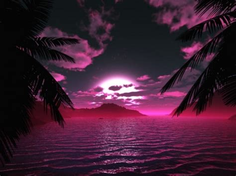 Pinkish Sunset Wallpaper