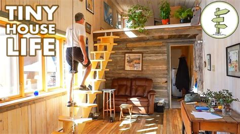 tiny house video  spacious  loft tiny house