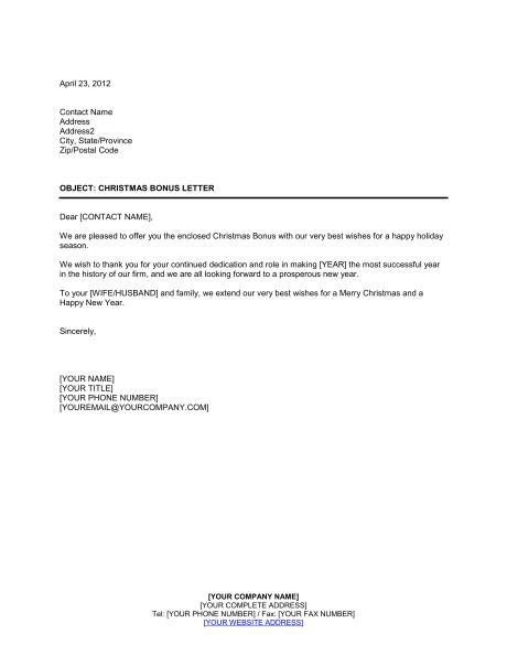 bonus award letter  employee   letter
