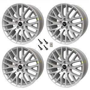 "2015-2017 Ford Mustang GT OEM 19"" x 9 x 9.5 Staggered Silver Wheels & TPMS Kit - 2015-2019 Mustang"