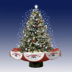 2 5 pre lit pvc amazing musical snowing artificial table top christmas tree on stand with fake
