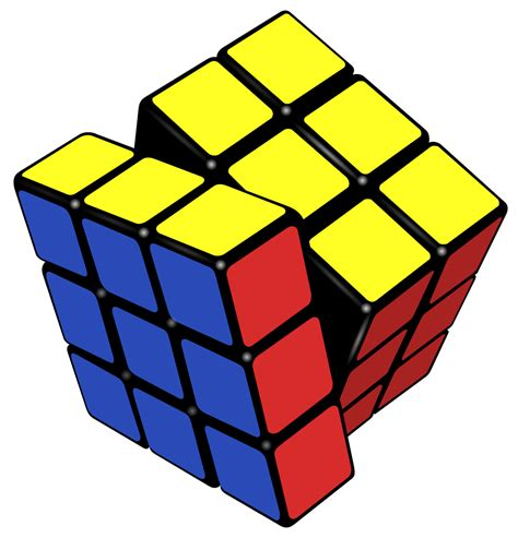 Filerubik's Cube Almost Solvedsvg  Wikimedia Commons