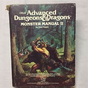 Advanced Dungeons And Dragons Monster Manual Ii By Gary
